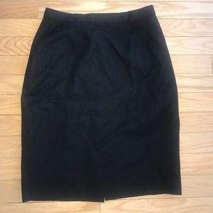 United colors of Benetton Black  💯 % Wool Skirt
